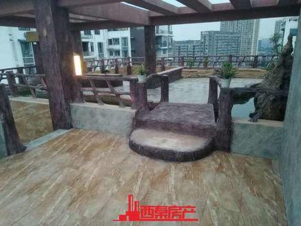 屋顶花园观盐都夜景,全智能化家庭控制系统,环保竹木纤维墙板