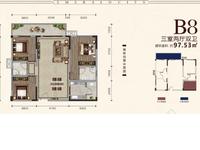 公园旁、湖景房,3室2厅2卫温馨大三室